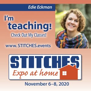 Check out my classes at Stitches Expo at Home November 6-8, 2020