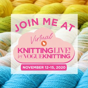 Join Me at Virtual Knitting Live by Vogue Knitting