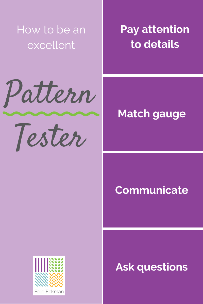 How to be an excellent pattern tester graphic