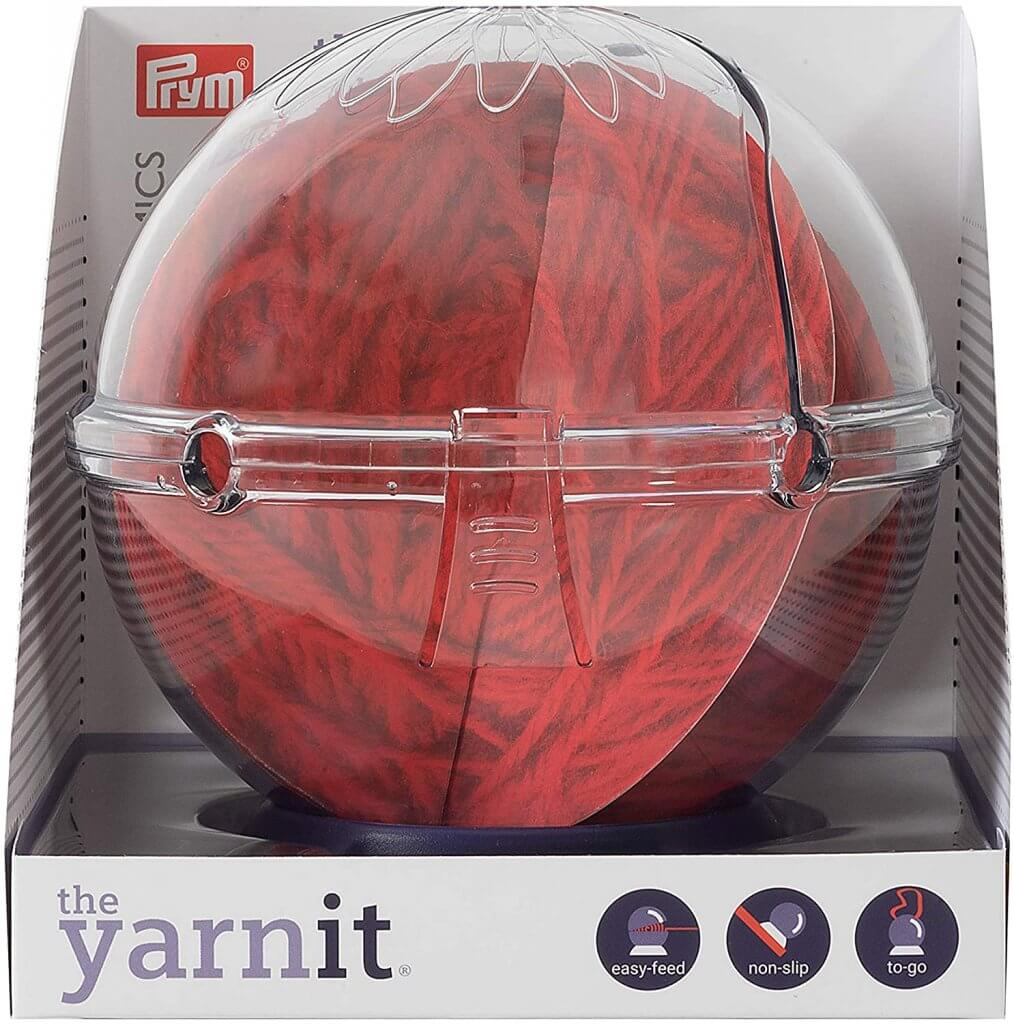 Clear plastic container for yarn