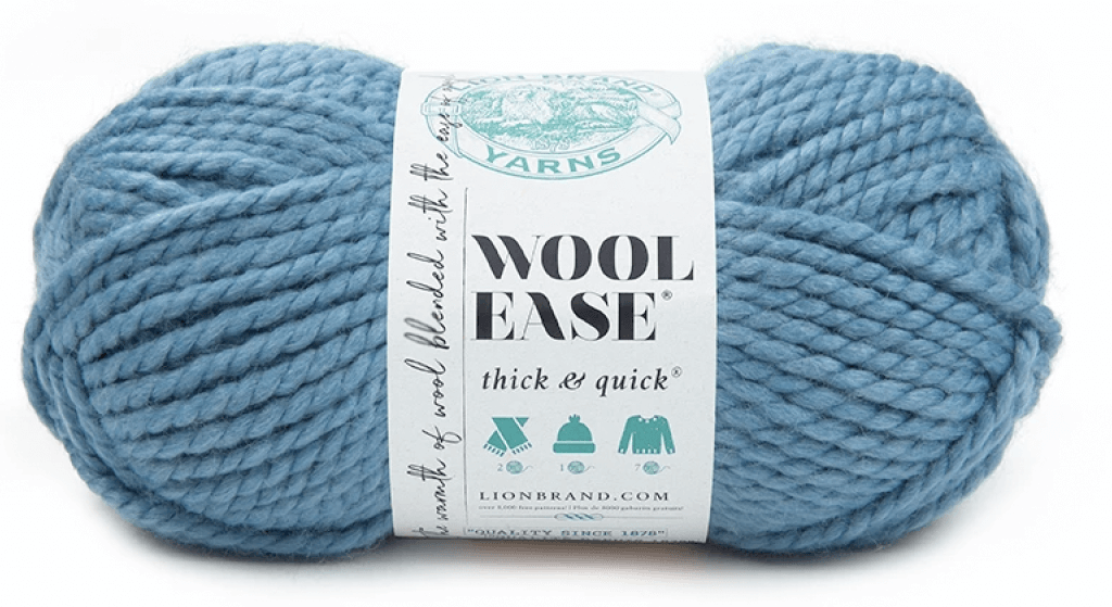 Lion Brand Wool Ease Thick & Quick in color Air Force