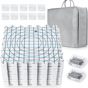 Extra Thick blocking mats with t-pins and storage bag