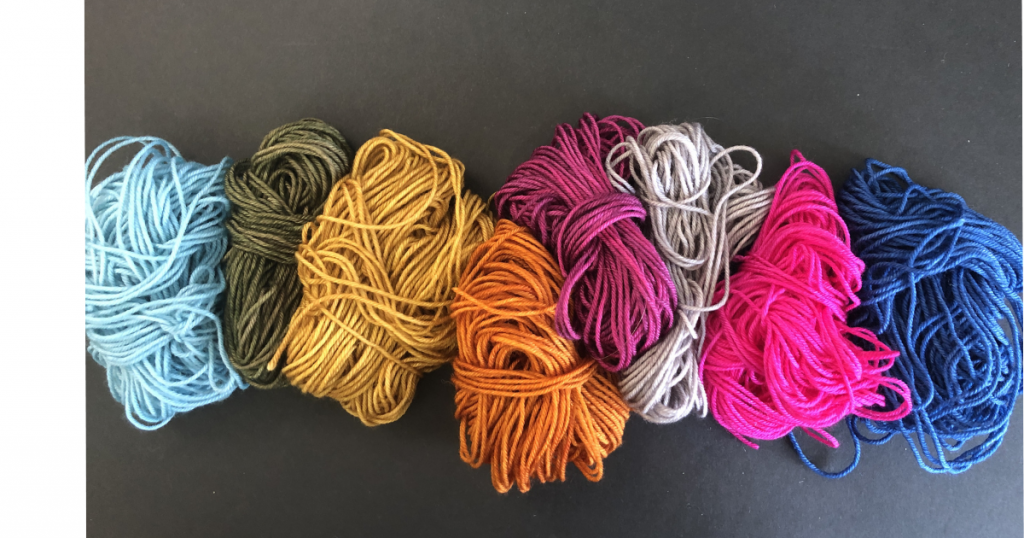 color handwound balls of yarn-RenFaire colorway by Stunning String
