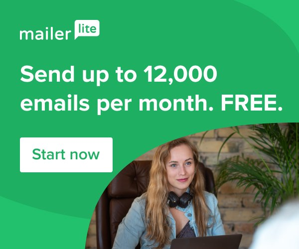 Send up to 12,000 free emails per month with MailerLite. Start now.
